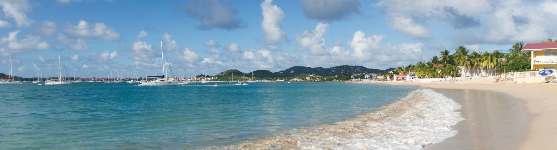 Surf On A Caribbean Beach